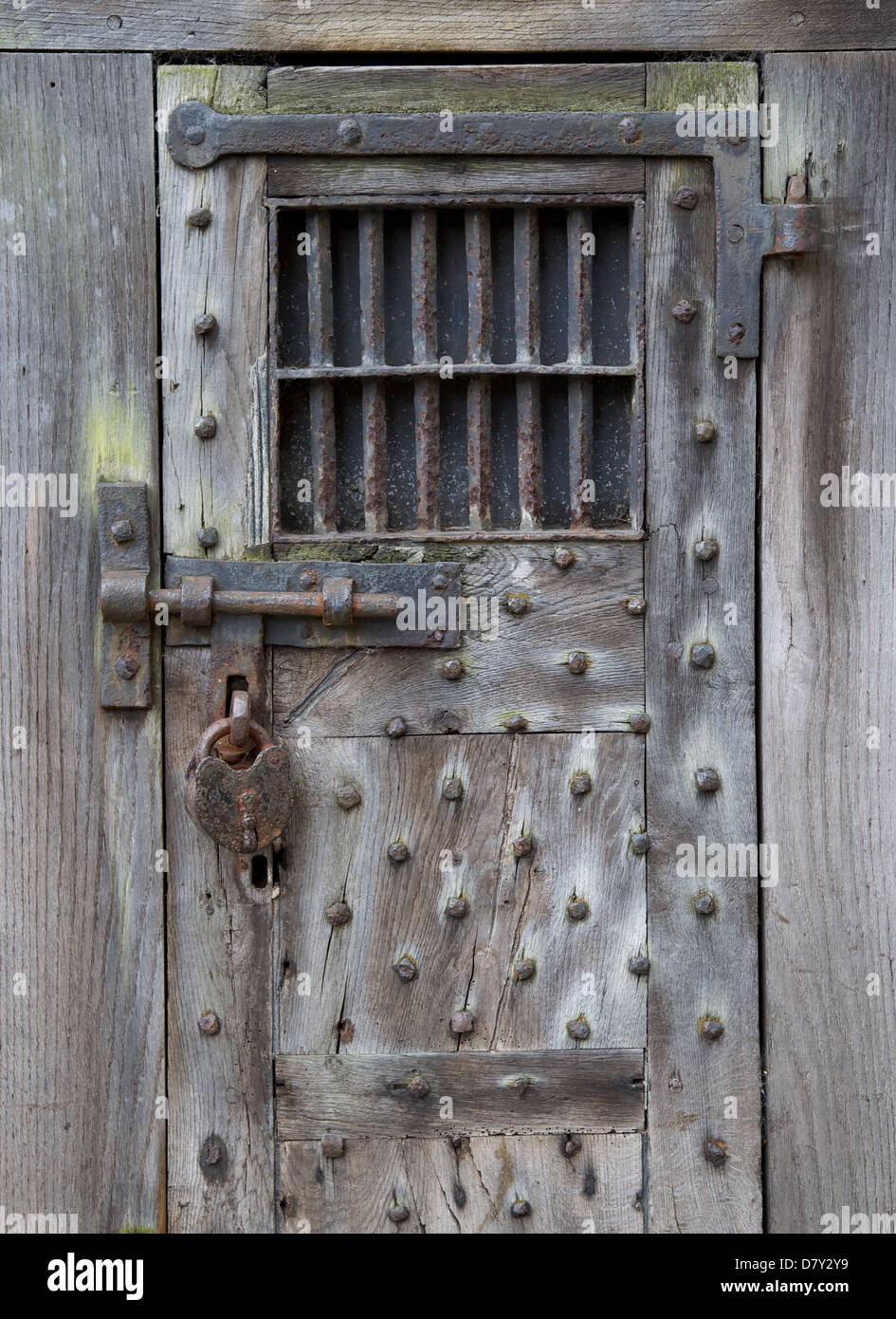 Old prison cell door in Warwick & Old prison cell door in Warwick Stock Photo: 56528733 - Alamy