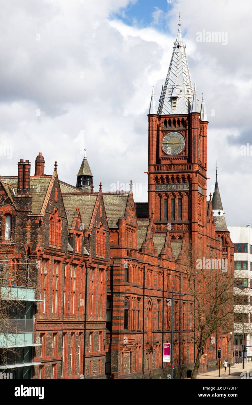 The Victoria Building + Victoria Gallery & Musem, University of Liverpool, Brownlow Hill, city centre, Liverpool, - Stock Image