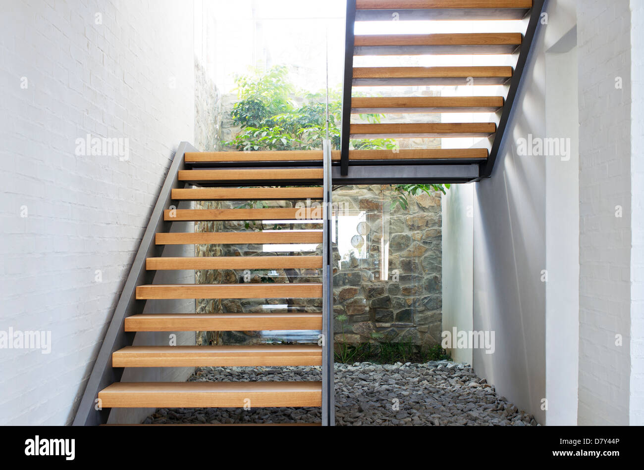 Staircase of modern house - Stock Image