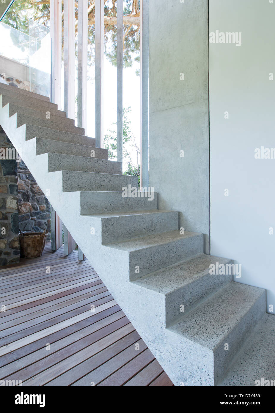 Steps of modern house - Stock Image