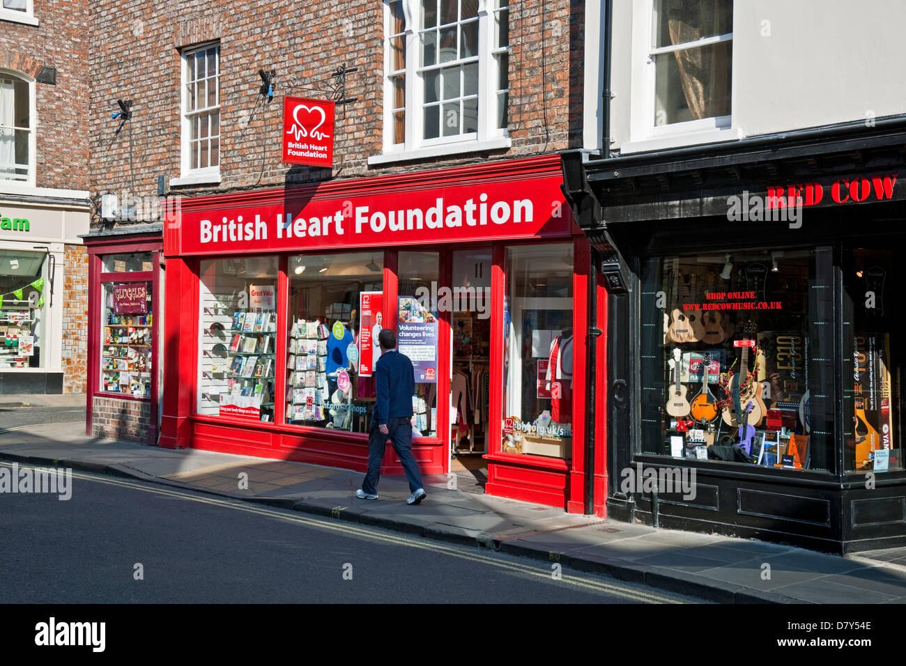 51248bcbb5e0e5 British Heart Foundation charity shop Goodramgate York North Yorkshire  England UK United Kingdom GB Great Britain