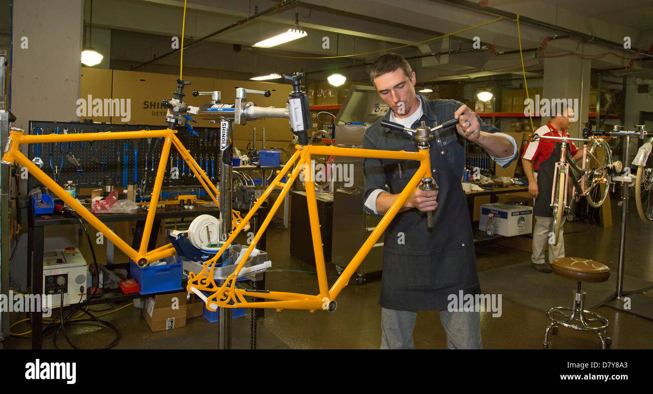 Bicycle Manufacturing in Detroit - Stock Image