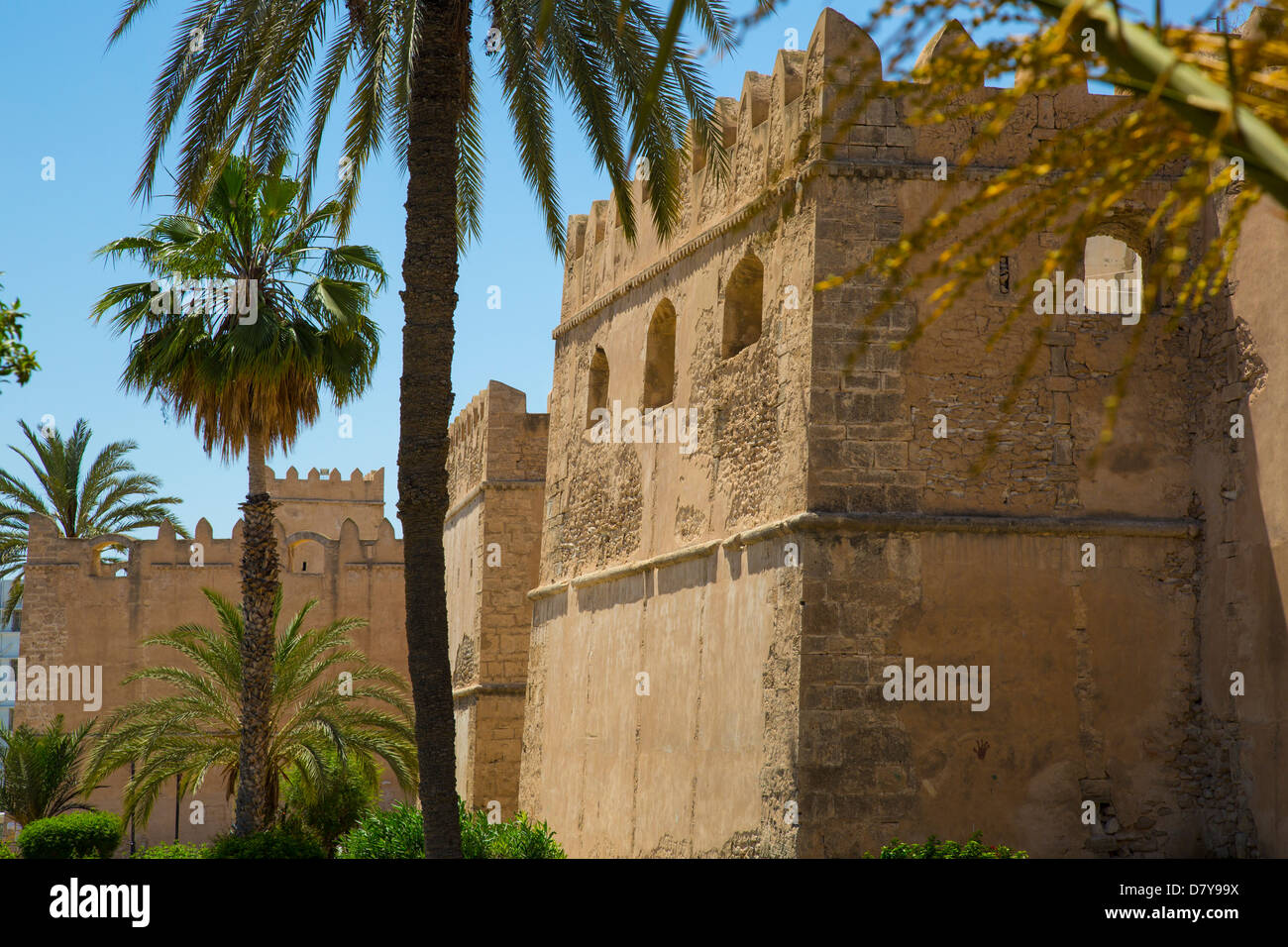 Walls of the Medina in Sfax Tunisia - Stock Image