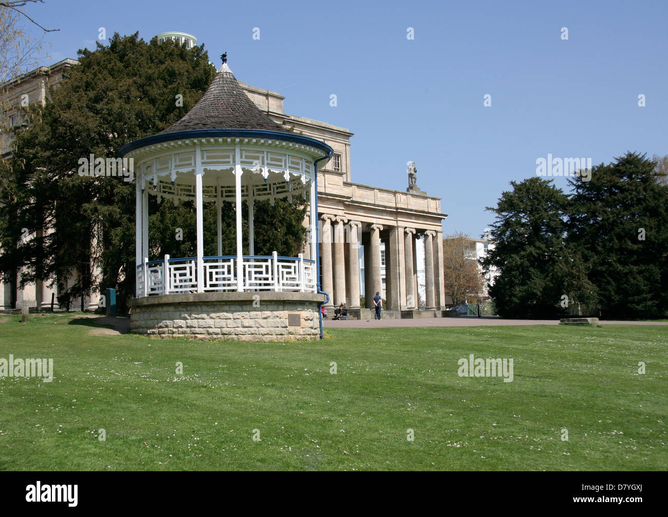 Bandstand Pittville Park and Pump Room Cheltenham Gloucestershire England UK - Stock Image