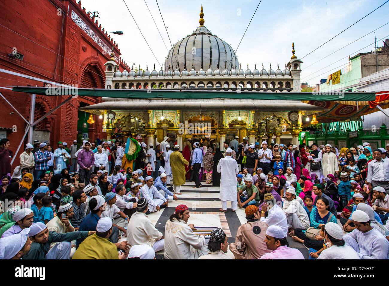 Nizamuddin Dargah, shrine and Mausoleum of a Sufi Saint, Delhi, India Stock Photo