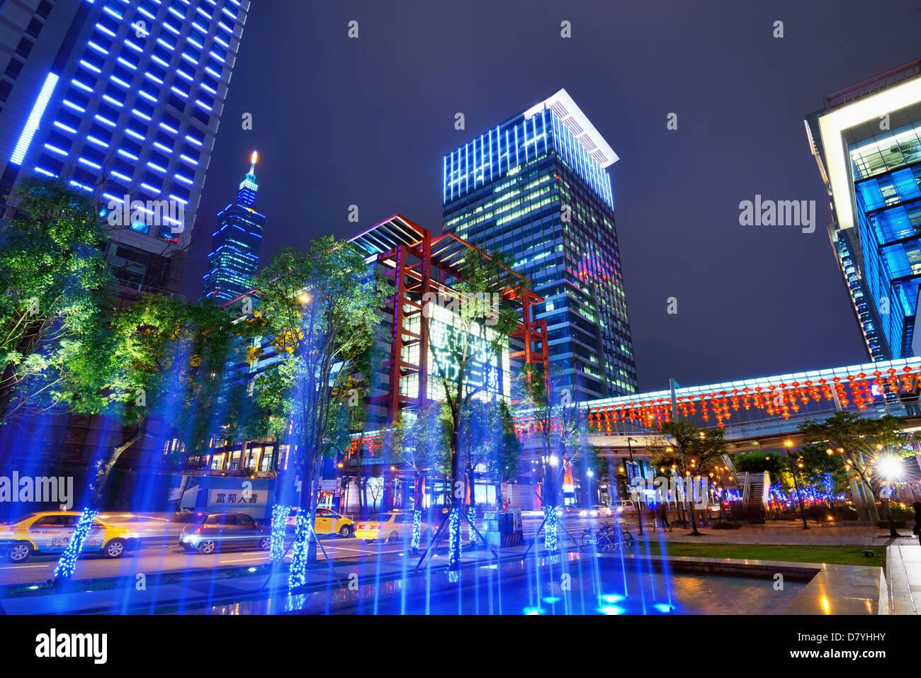 Xinyi District of Taipei, Taiwan. - Stock Image