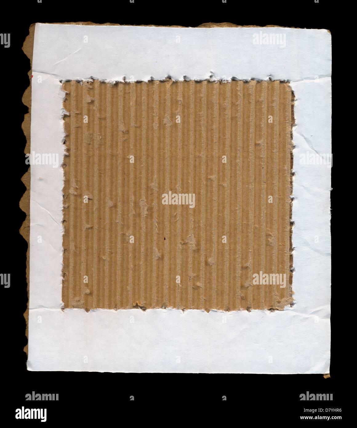 Cardboard paper frame cut border background. Grunge design element ...