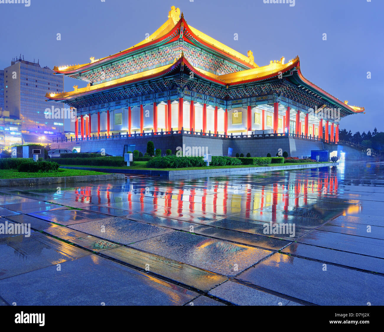 National Theater of Taiwan in Liberty Square, Taipei, Taiwan. - Stock Image
