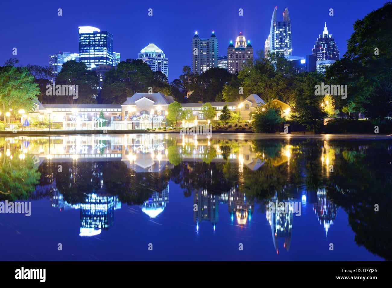 Mditown Atlanta, Georgia from Piedmont Park - Stock Image