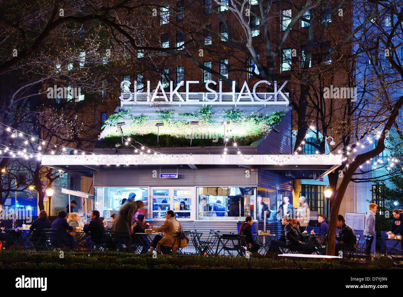 The Shake Shack diner in New York City. - Stock Image