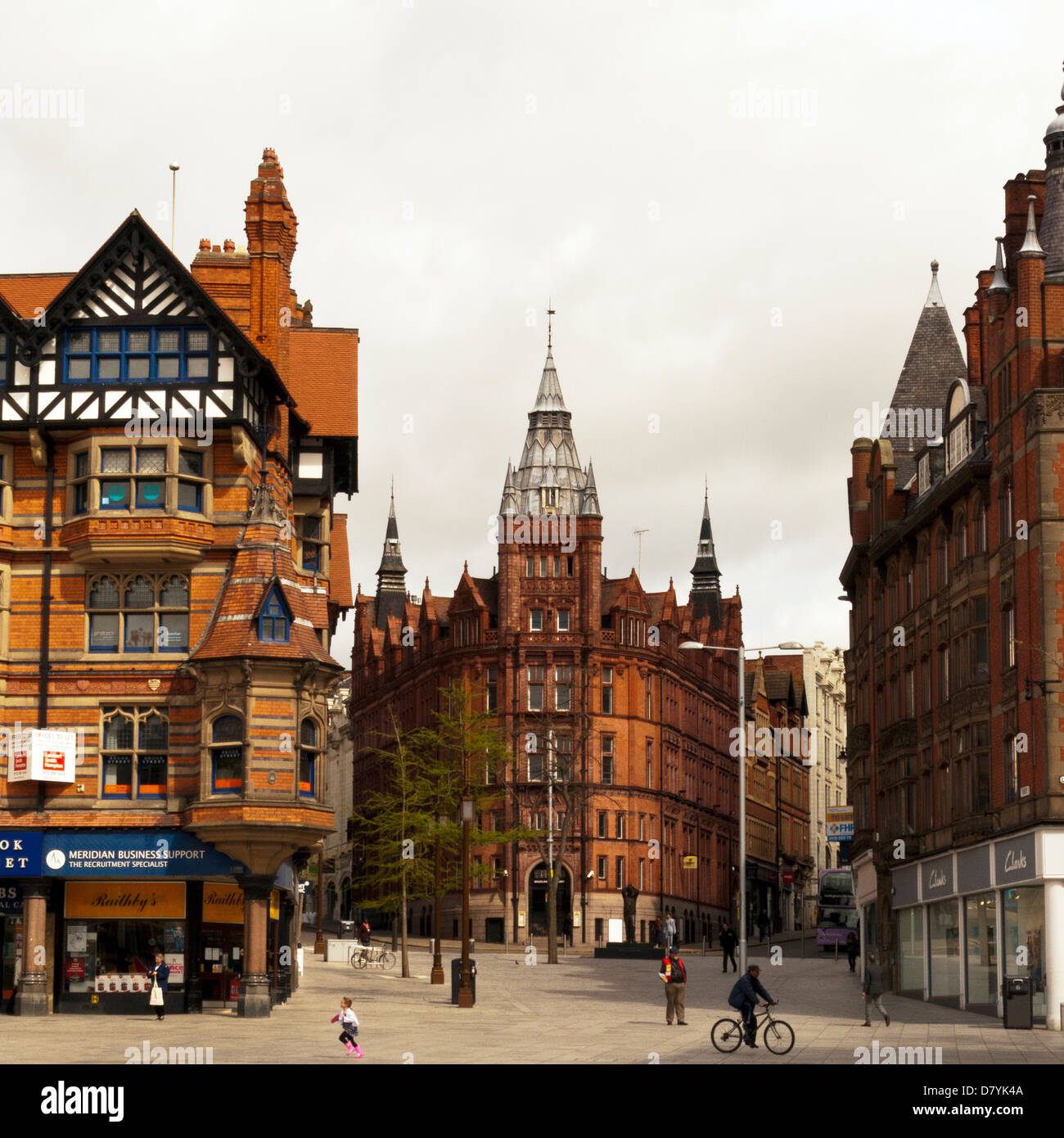 Nottingham City Centre, Nottinghamshire, UK, England - Stock Image