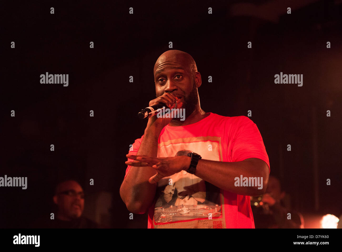 De La Soul performing at All Tomorrows Parties, Camber Sands, West Sussex, England , United Kingdom. - Stock Image