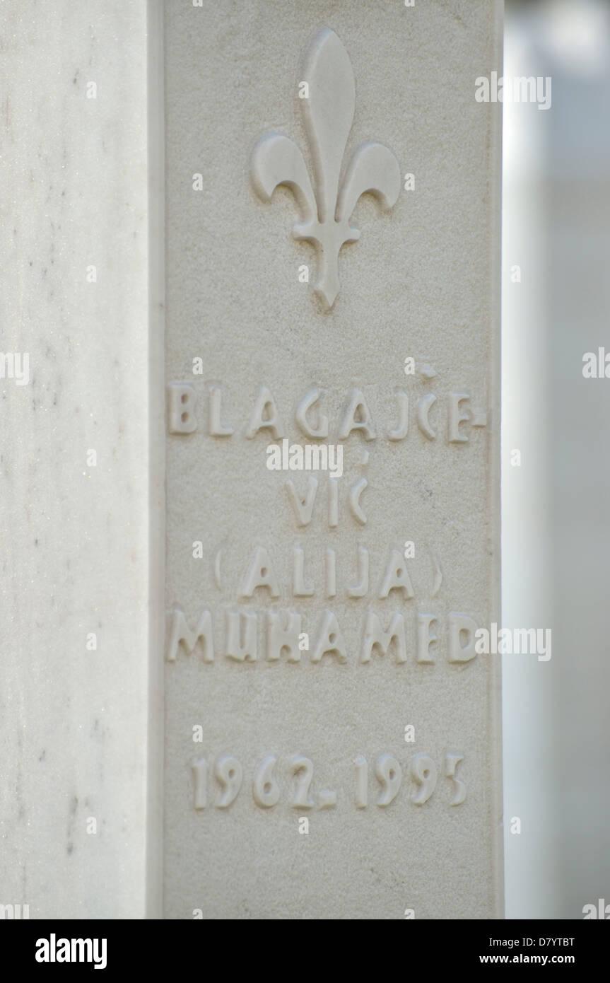 Civil war cemetery, Travnik, Bosnia and Herzegovina Stock Photo