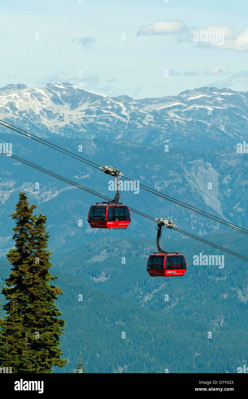 Peak 2 Peak Gondola, Whistler, British Columbia, Canada - Stock Image