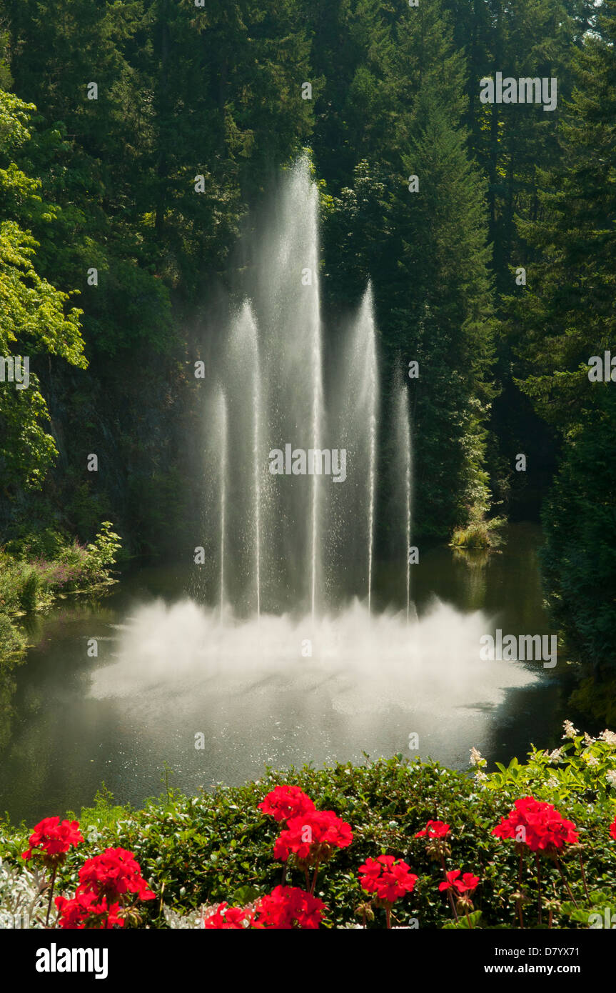 Ross Fountain, Butchart Gardens, Victoria, British