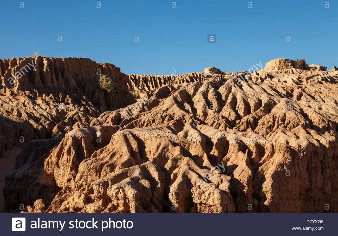 Formations Caused By Erosion On The Great Wall Of China Mungo Stock