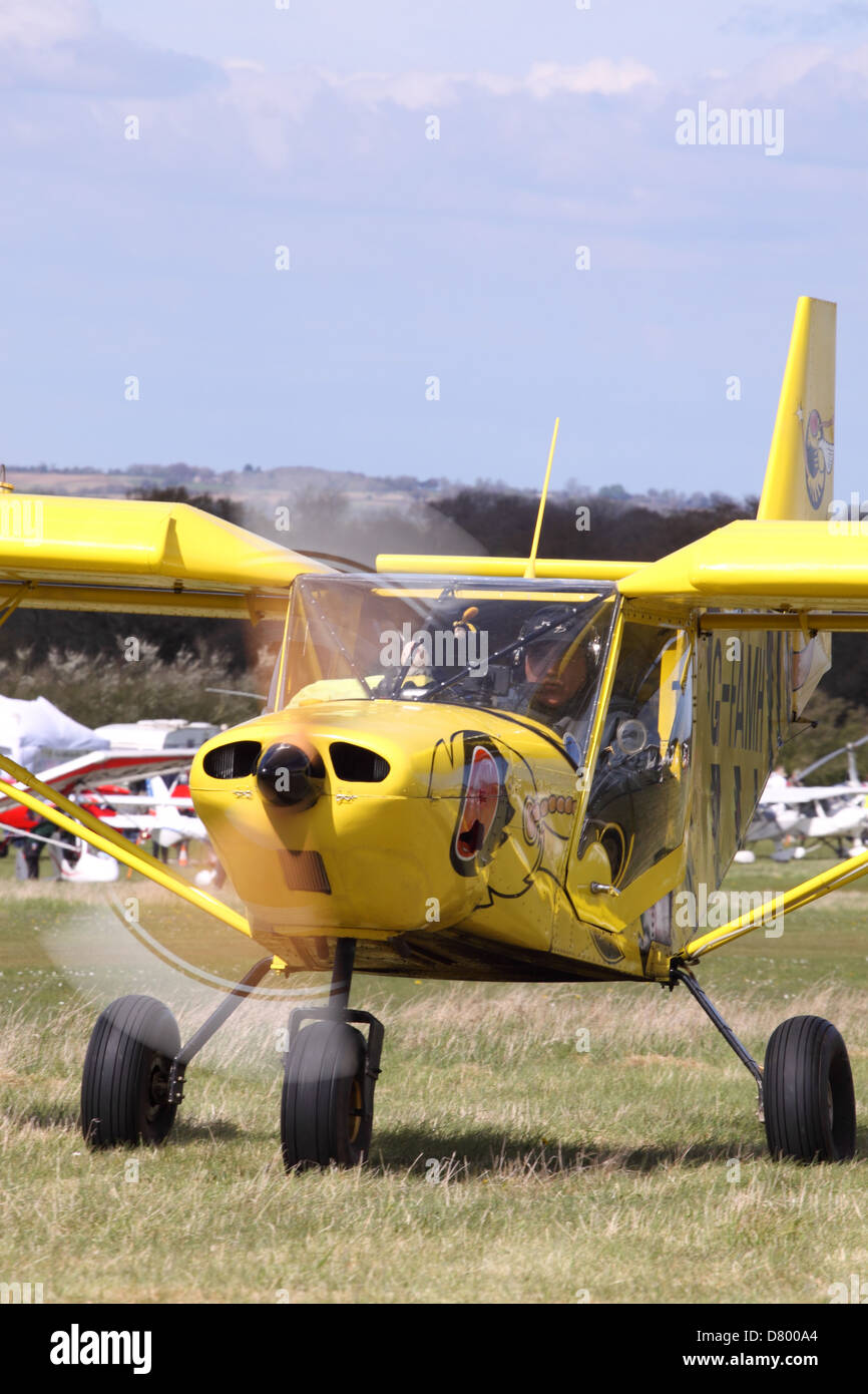 Zenair CH-701 ultralight aircraft built from a factory supplied kit taxying at Popham airfield - Stock Image