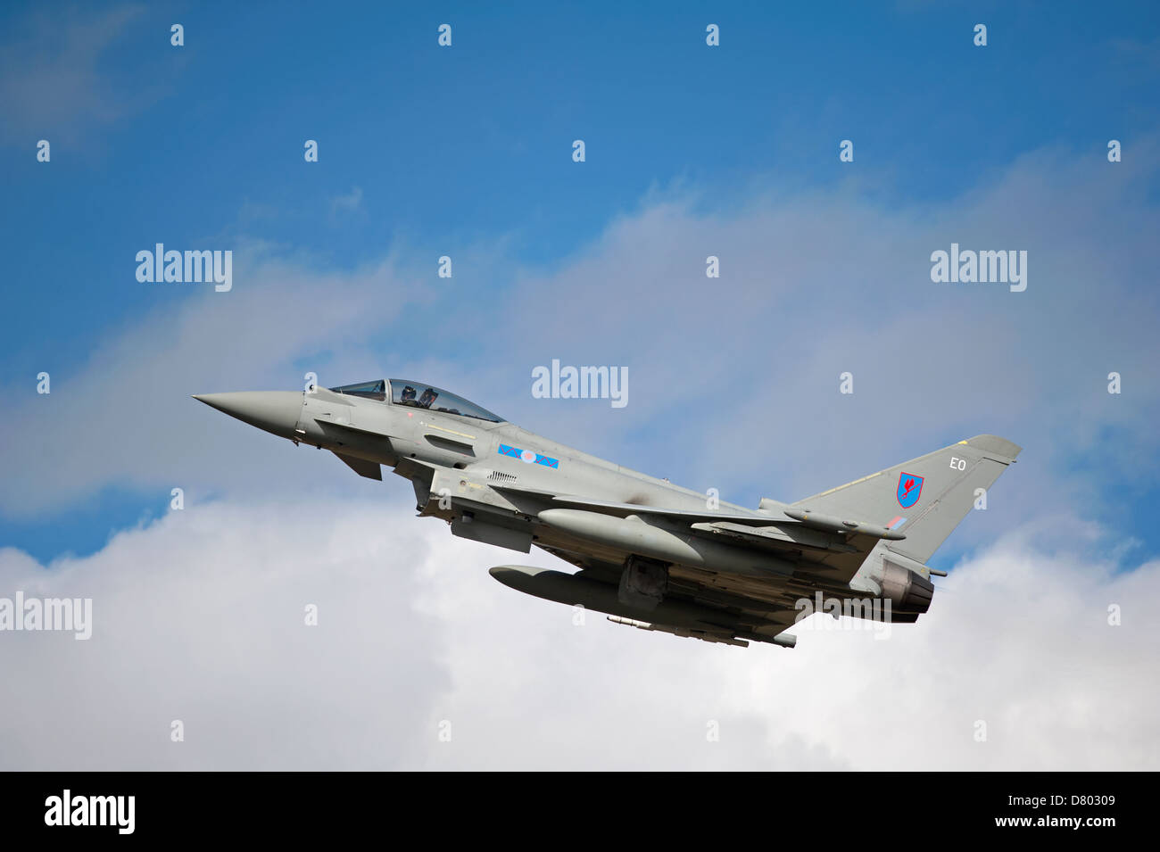 Eurofighter Typhoon EO FGR4 RAF No 6 Sqn Leuchars. Scotland.   SCO 9116 - Stock Image