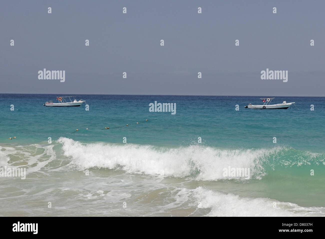 Ponta Preta beach Santa Maria Sal Cape Verde Stock Photo