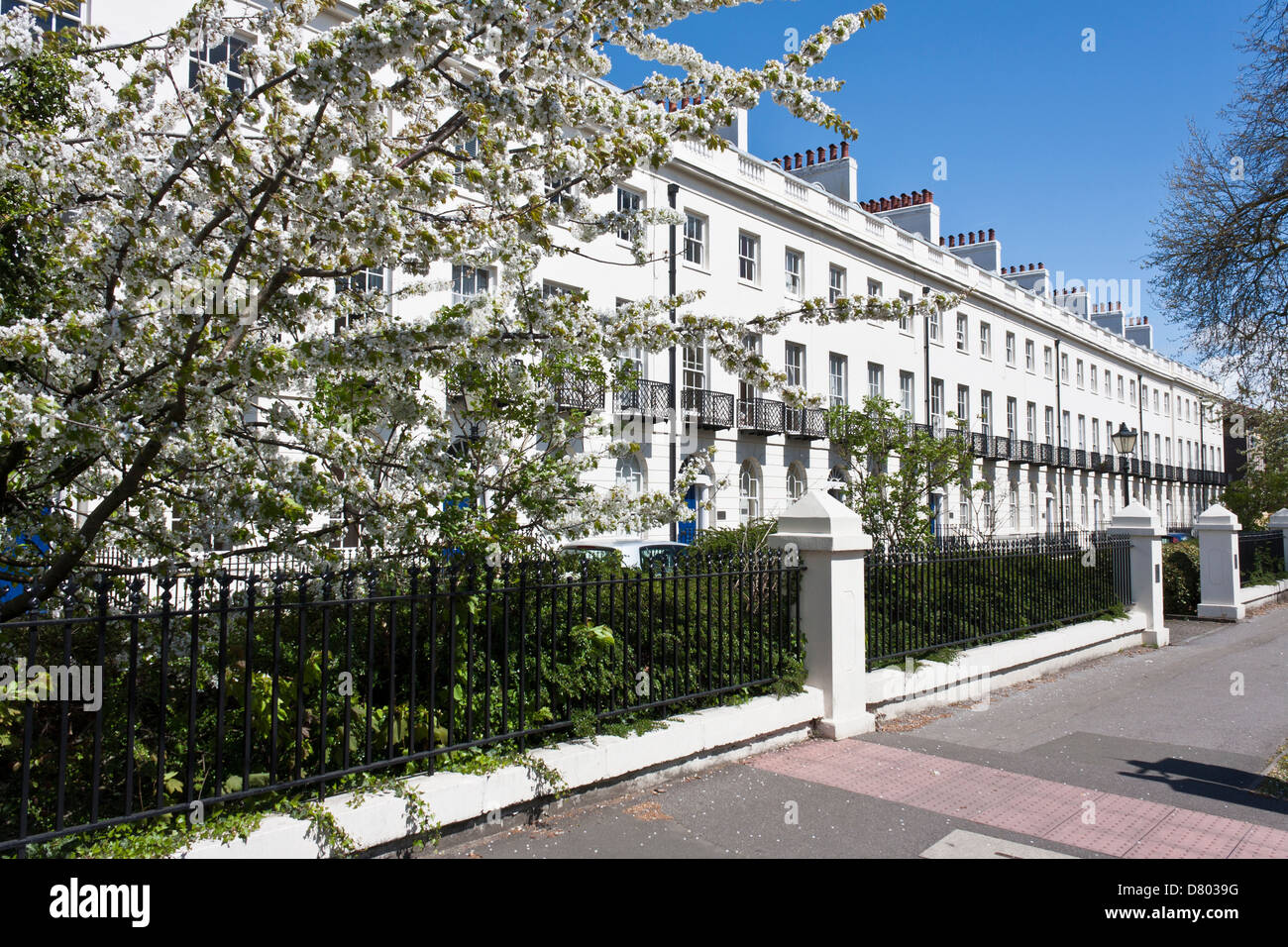 Albion Terrace in Reading, Berkshire, a Grade II listed building. England, GB, UK. - Stock Image