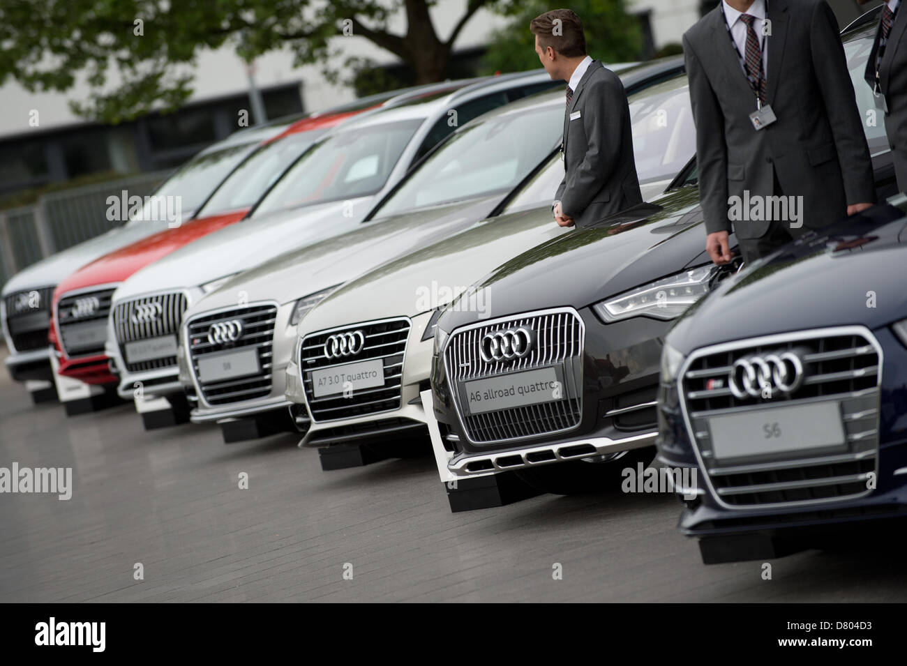 Different Models Of Audi Cars Stand In A Row During Audi S General Stock Photo Alamy