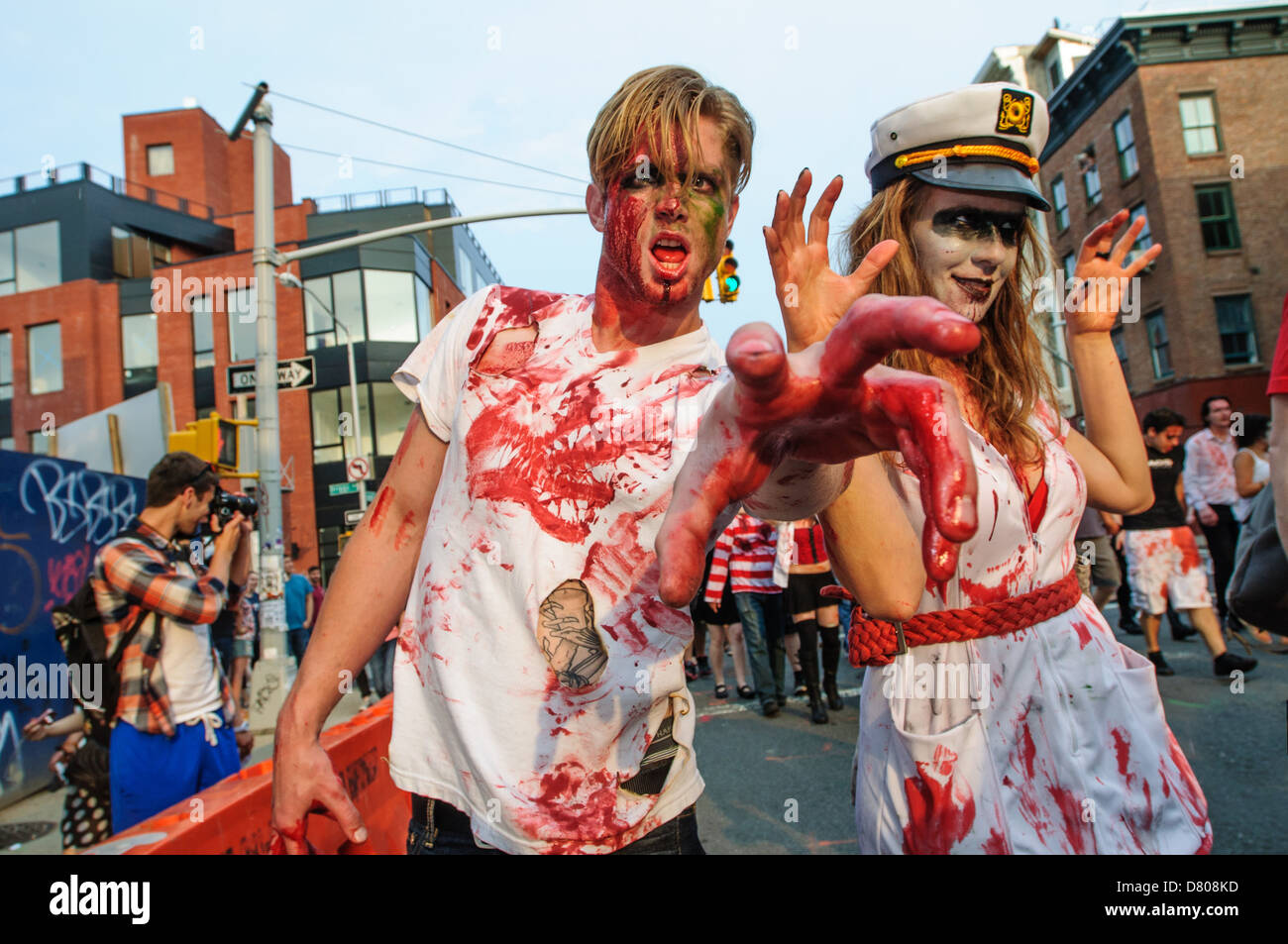 Participants of the NYC Zombie Crawl, Williamsburg. May 27, 2012 - Stock Image