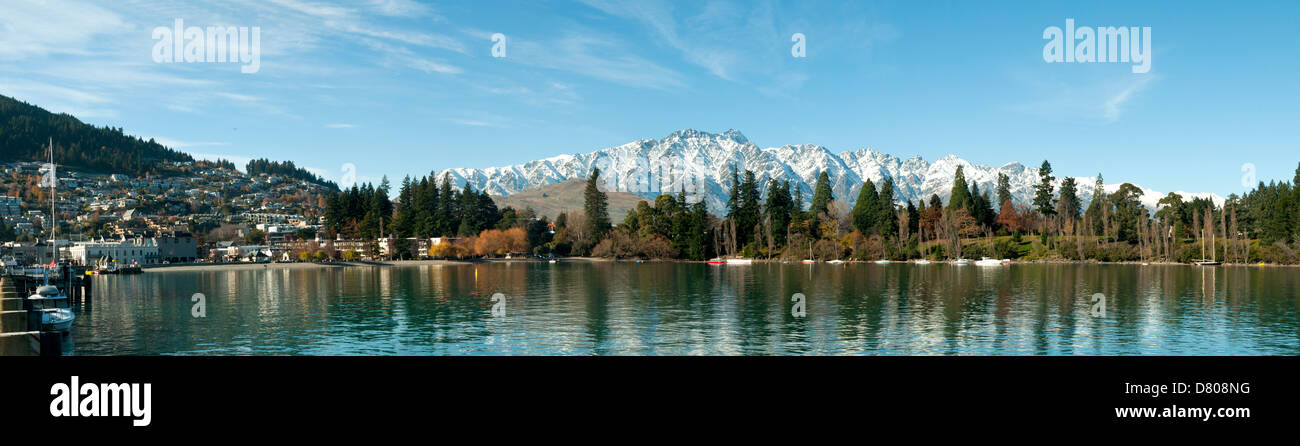 Queenstown and the Remarkables, Otago, New Zealand - Stock Image