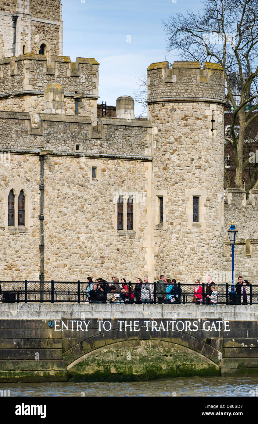 Traitors Gate - The Tower of London - Stock Image