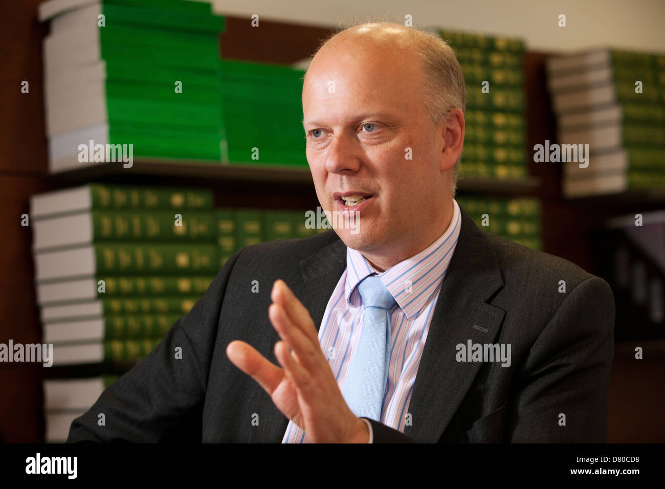 Chris Grayling MP and Lord Chancellor and Secretary of State for Justice - Stock Image