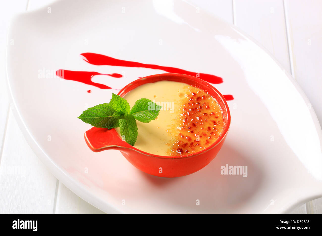 Creme brulee - Stock Image