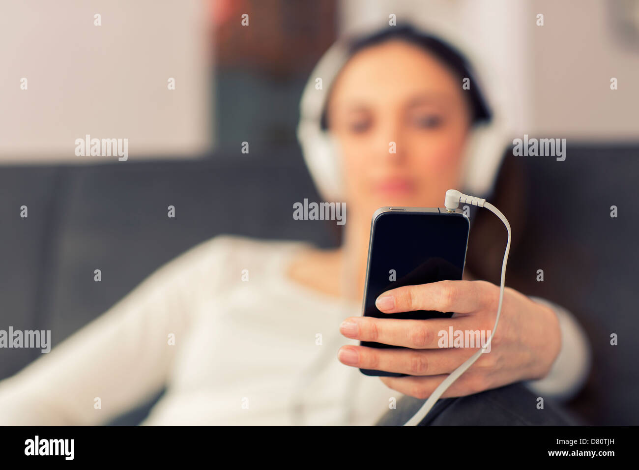net audio player in the foreground - Stock Image