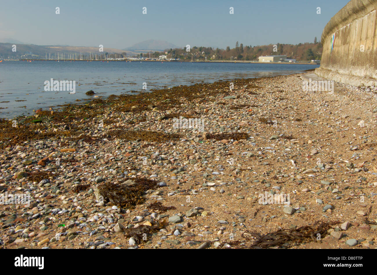 Beach at Helensburgh on the Gareloch - Stock Image