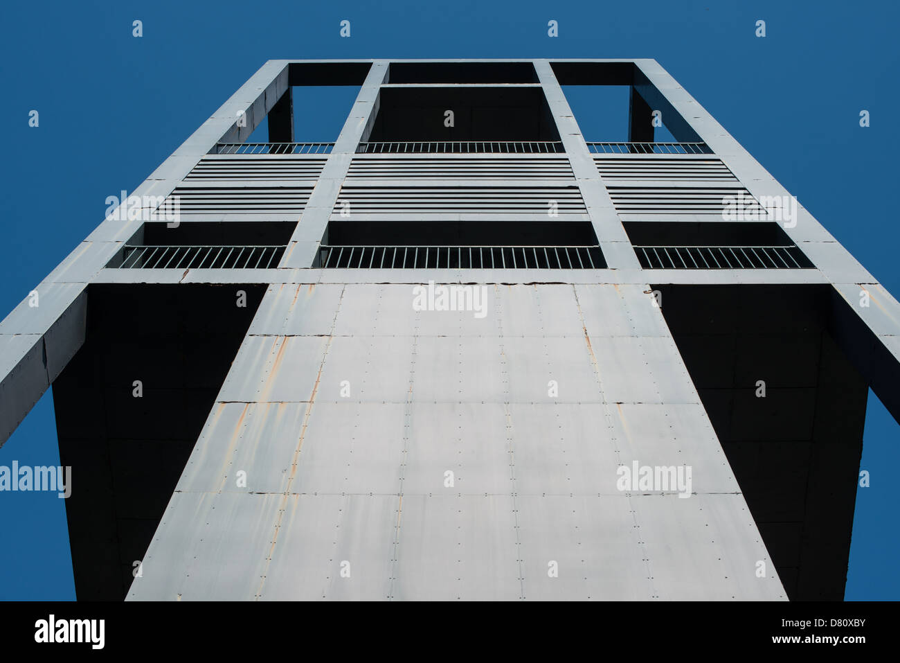 Western face of the Netherlands Carillon next to Arlington National Cemetery and the Iwo Jima Memorial. First donated in 1954, the Carillon was moved to its current location in 1960. It was a gift of the Netherlands to the United States in thanks for US aid during World War II. Stock Photo