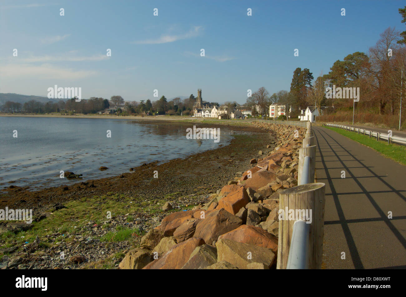 Waterfront at Rhu on the Gareloch, Scotland - Stock Image