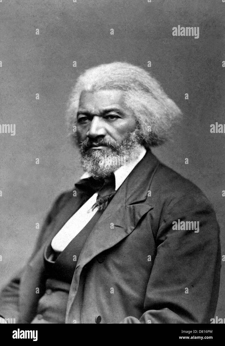 Frederick Douglass, American social reformer, orator, writer and statesman - Stock Image