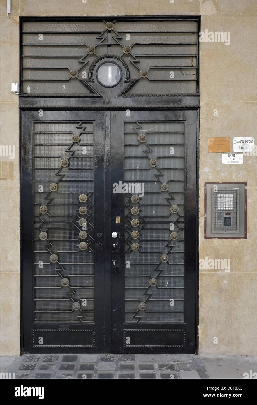Art Deco Door Budapest Hungary Europe EU   Stock Image