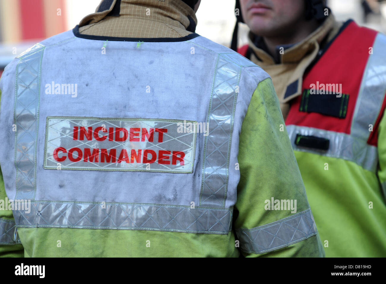 Incident commander in the fire service. - Stock Image