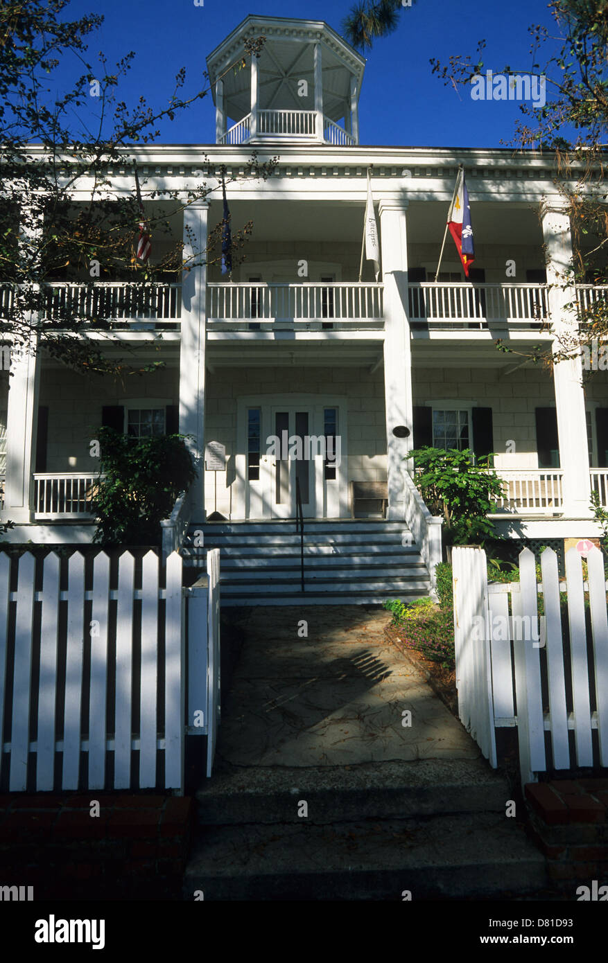 Elk283-3511v Louisiana, Cajun Country, Lafayette, Alexandre Mouton House Museum, 1836 - Stock Image