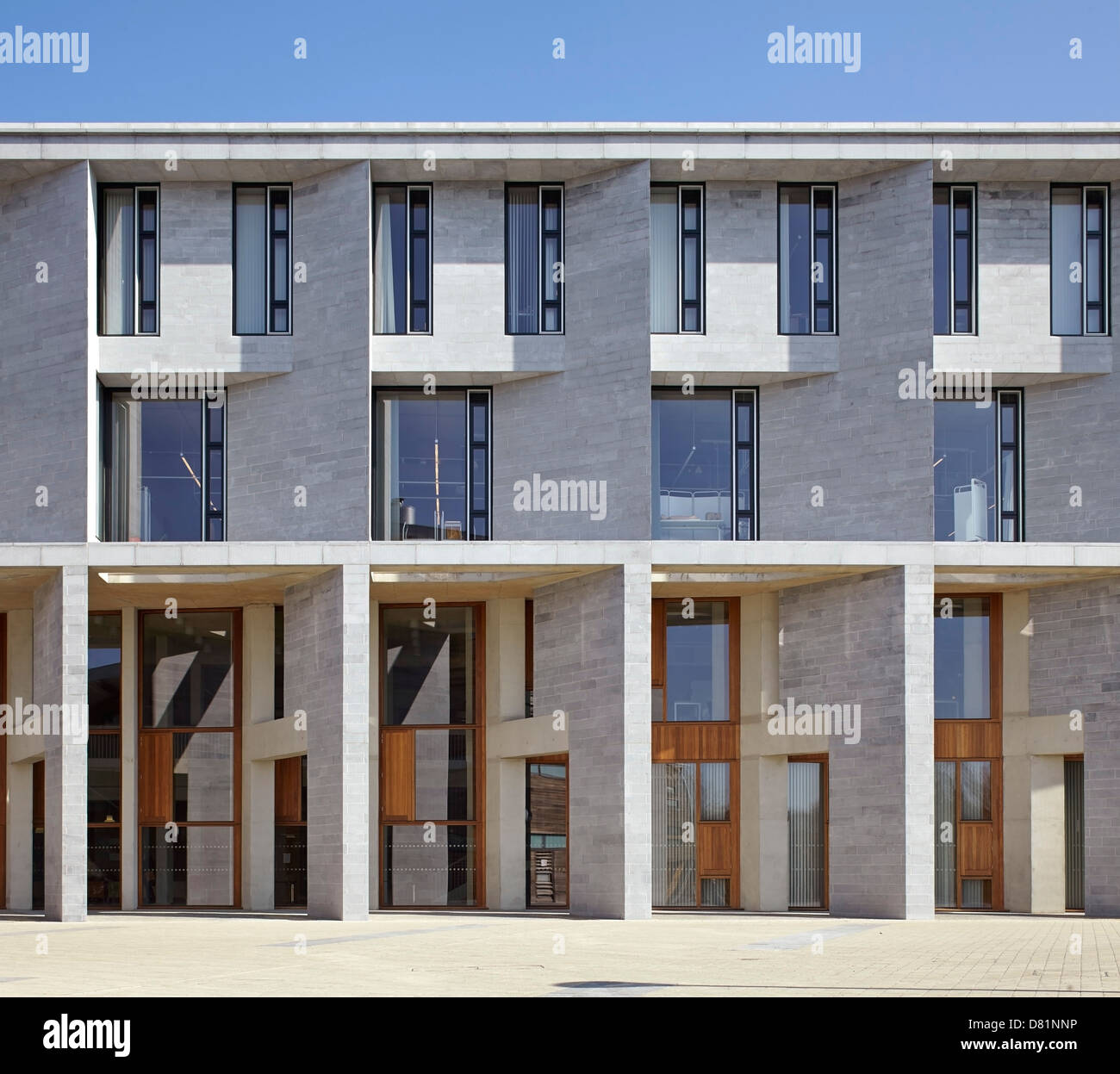 Medical School Building and Student Accommodation University Limerick, Limerick, Ireland. Architect: Grafton Architects, - Stock Image