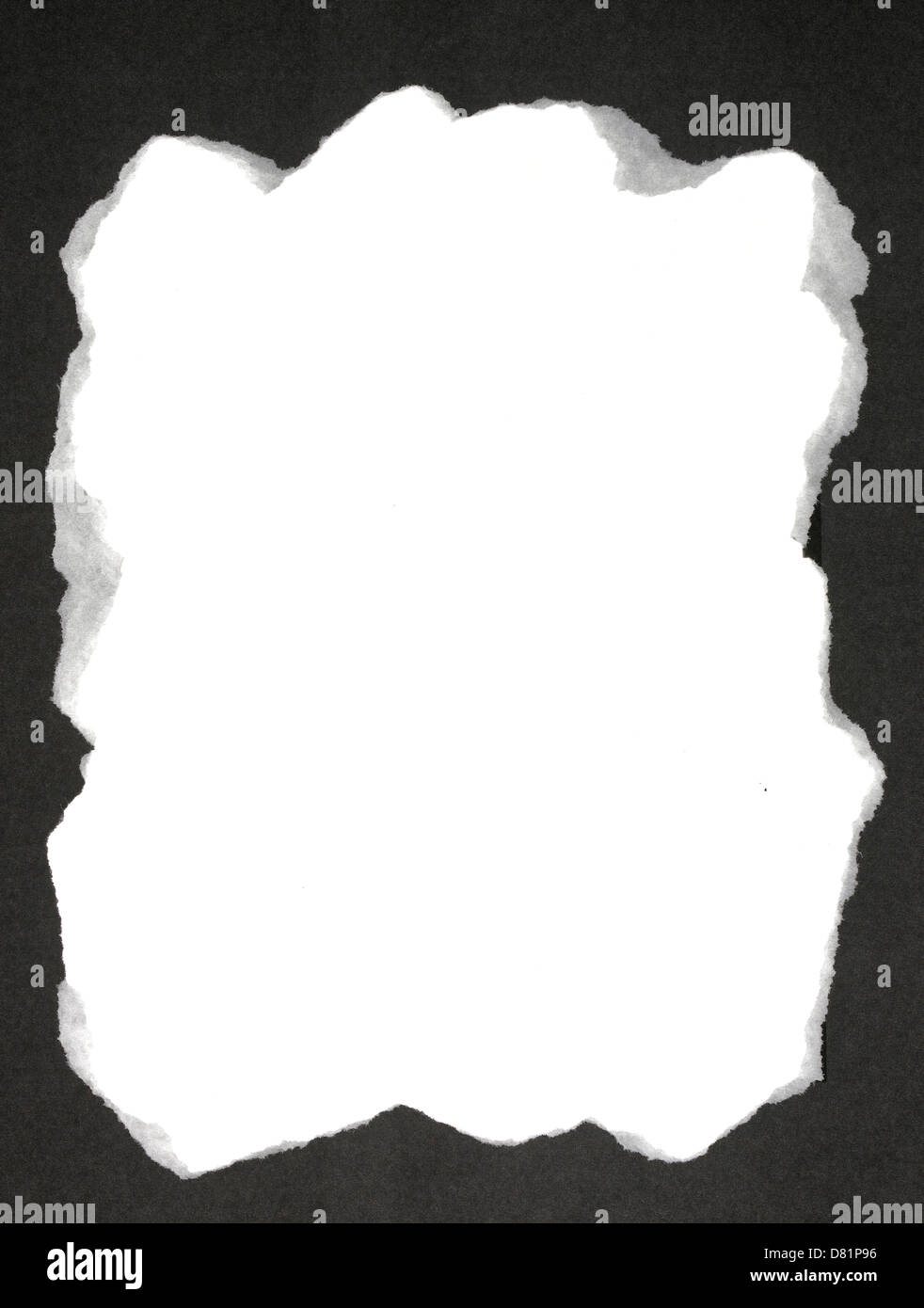 Ripped Paper Black Background Stock Photos & Ripped Paper Black ...