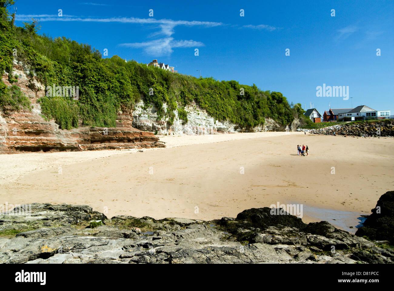 Beach Jacksons Bay, Barry Island, Vale of Glamorgan, South Wales, UK. Stock Photo