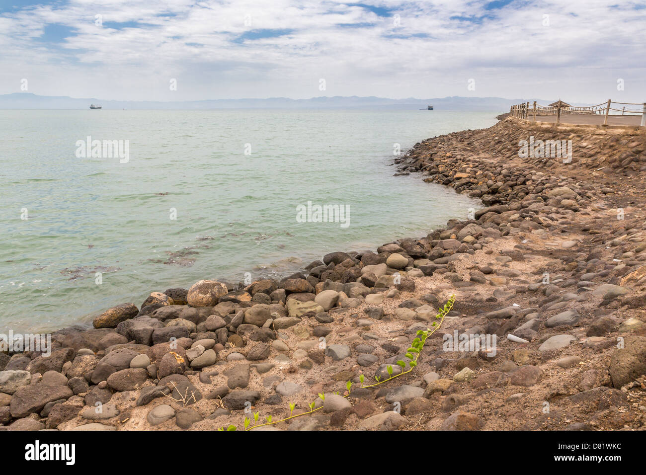 The shores of the Red sea in Djibouti - Stock Image
