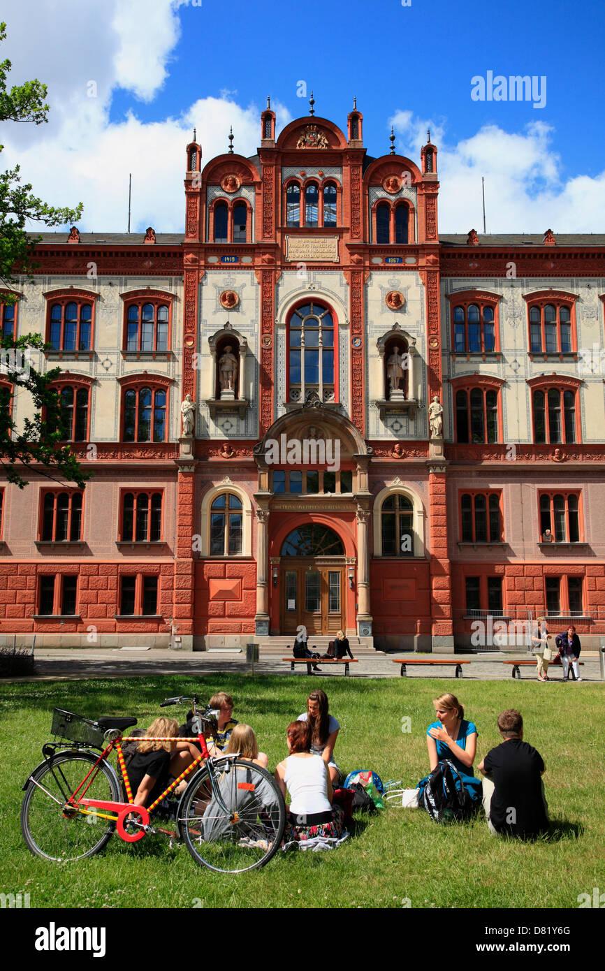 University, Rostock, baltic sea coast, Mecklenburg-Western Pomerania, Germany Stock Photo