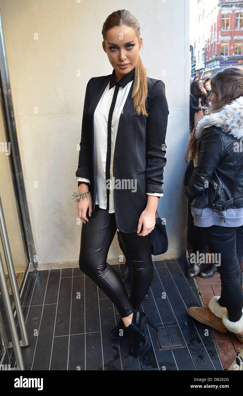 Rozanna Purcell was first in line at the launch of the Karl By Karl Lagerfeld Collection at BT2 Dublin, Ireland - Stock Image