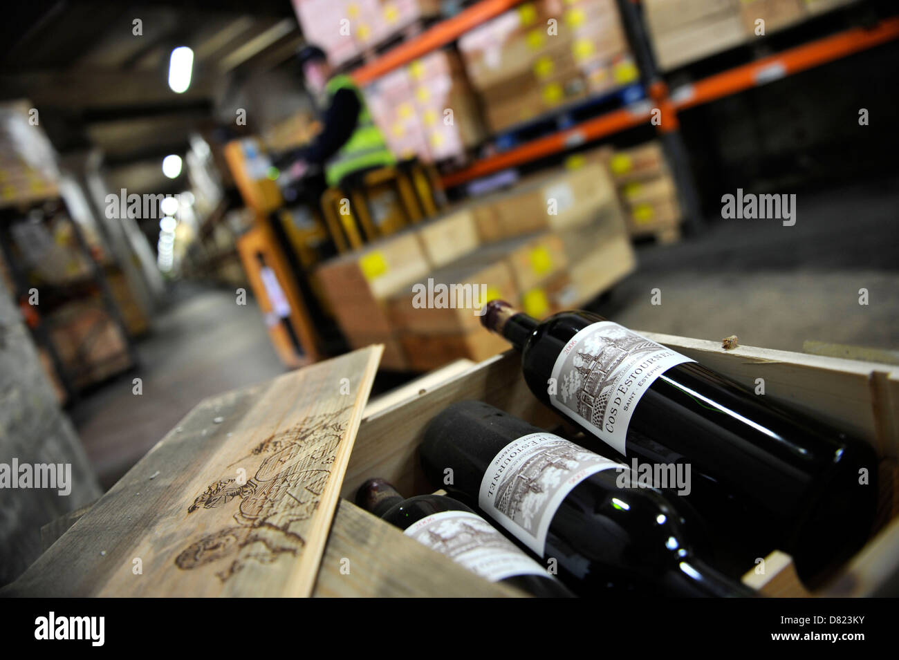 Cert Octaviau0027s Corsham Cellars a fine wine storage facility on the site of an old stone & Petrus Expensive Stock Photos u0026 Petrus Expensive Stock Images - Alamy