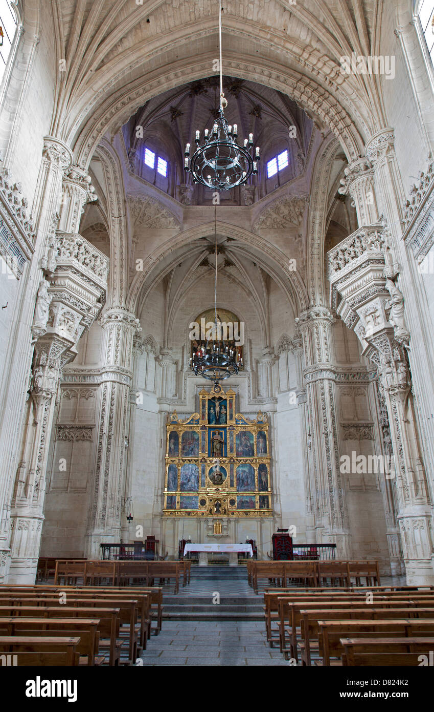 TOLEDO - MARCH 8: Gothic interior of Monasterio San Juan de los Reyes or Monastery of Saint John of the Kings - Stock Image