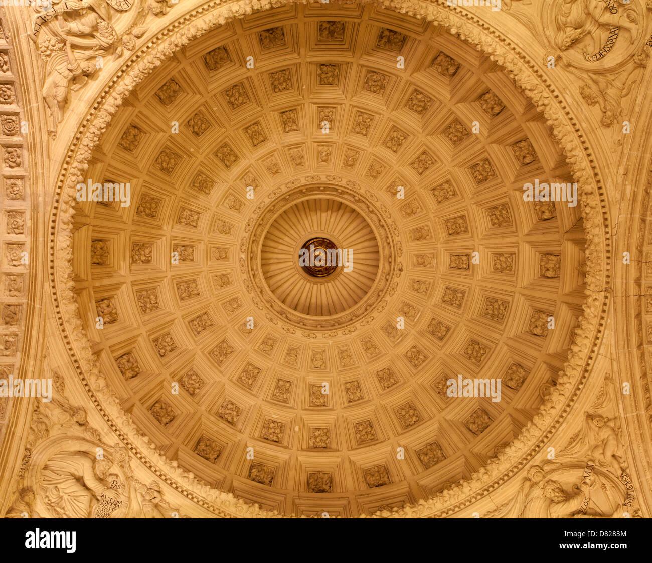 TOLEDO - MARCH 8: Cupola of stairs in Monasterio San Juan de los Reyes or Monastery of Saint John of the Kings - Stock Image