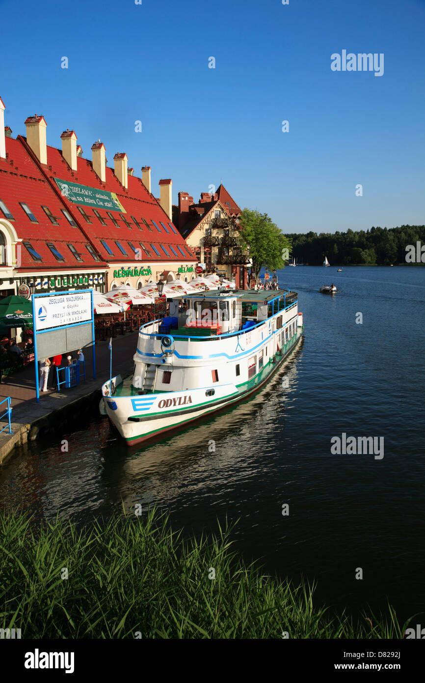Nikolaiken (Mikolajki), tourist ship, Masurian Lake District, Poland - Stock Image