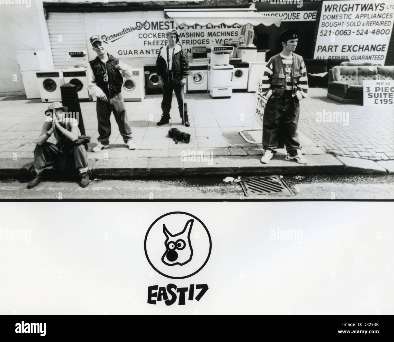 EAST 17 Promotional photo of UK pop group about 1992 - Stock Image