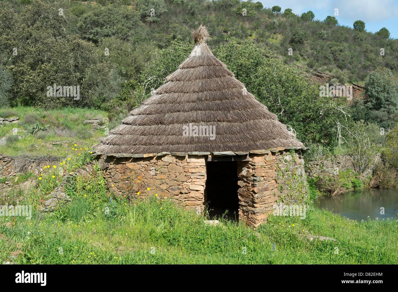Round house at Mealha Masmarrta Trail Brás de Alportel Algarve Portugal Mediterranean Europe - Stock Image
